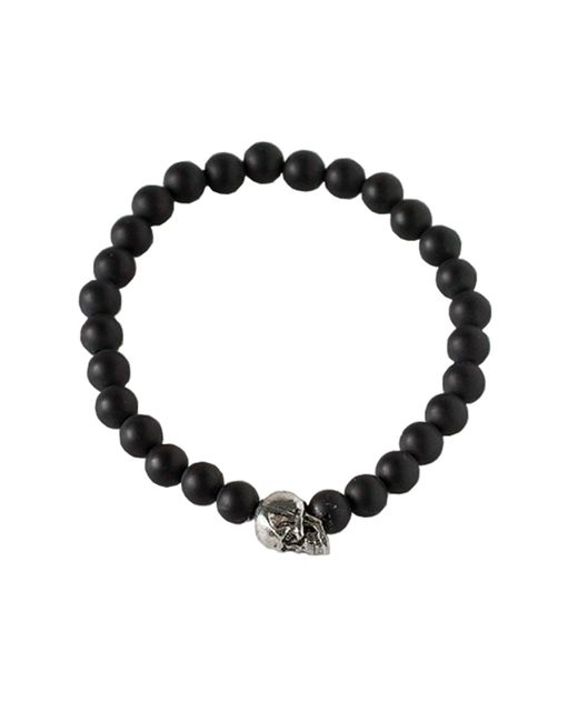 Duchess Of Malfi | Black Skull Bead Bracelet for Men | Lyst