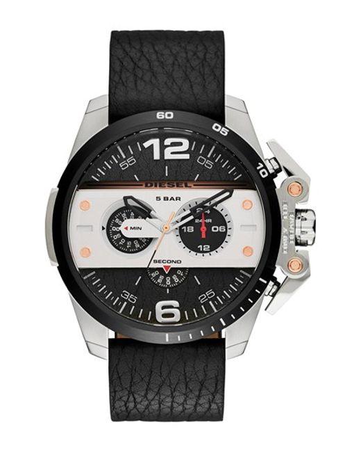DIESEL | Black Diesel 'ironside' Chronograph Watch for Men | Lyst