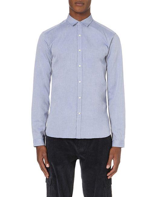 Oliver Spencer | Blue Clerkenwell Regular-fit Cotton Shirt for Men | Lyst