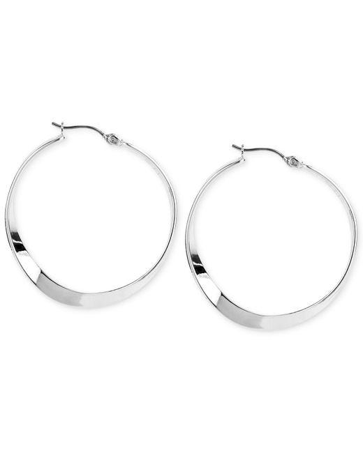 Robert Lee Morris | Metallic Silver-tone Sculptural Hoop Earrings | Lyst
