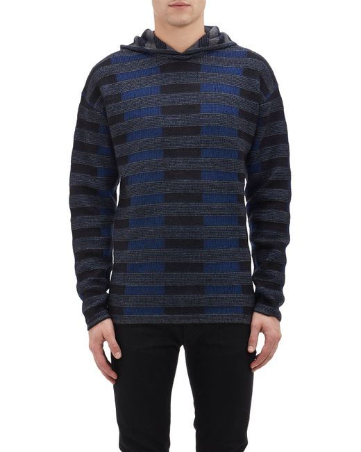 Alexander Wang | Blue Hooded Baja Pullover Sweater for Men | Lyst