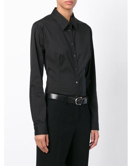 Prada Classic Shirt in Black   Lyst