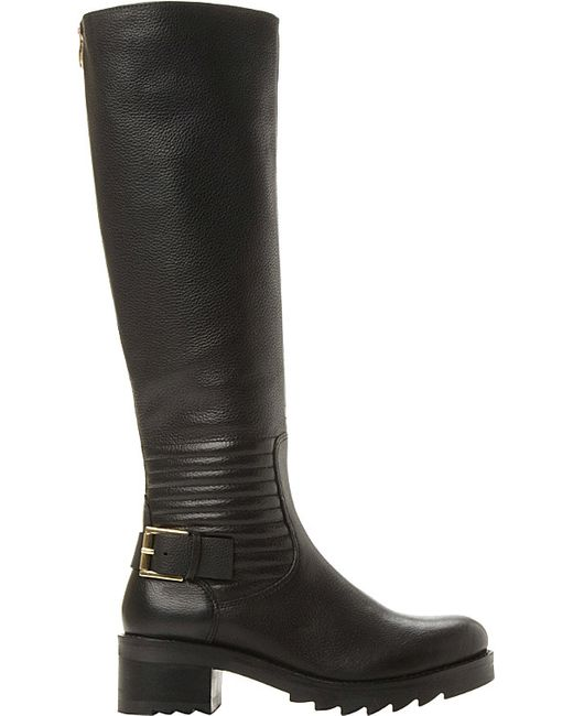 dune leather knee high boots for in black black