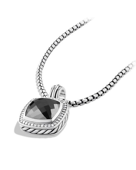 David Yurman | Albion® Pendant With Black Onyx And Diamonds, 11mm | Lyst