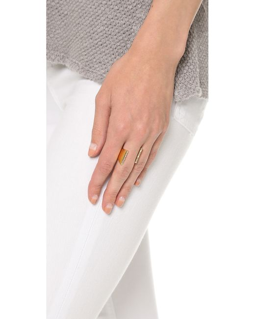 Vita Fede | Metallic Lia Double Crystal Ring | Lyst
