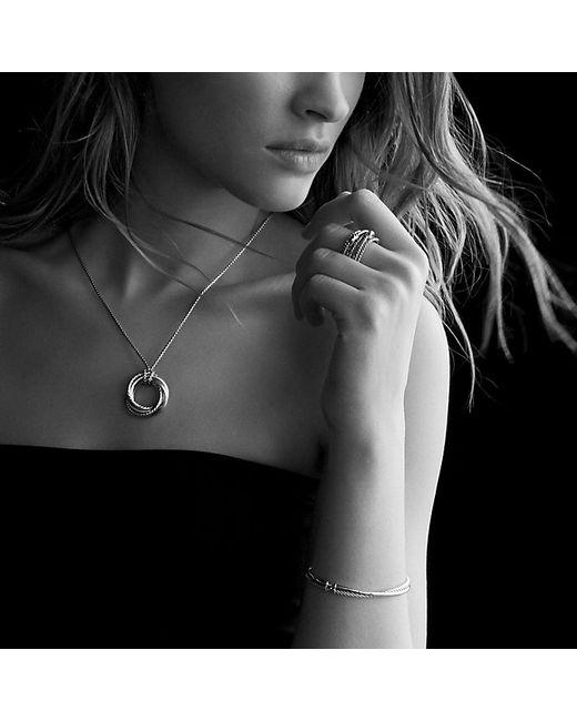 David Yurman | Metallic Crossover Bracelet With Gold | Lyst