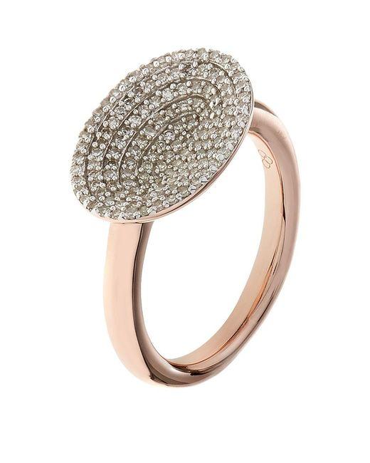 Links of London | Metallic Diamond Essentials Concave Ring | Lyst