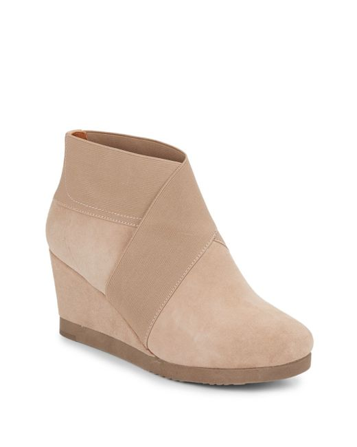 Gentle Souls | Natural Two For Dawn Suede Booties | Lyst