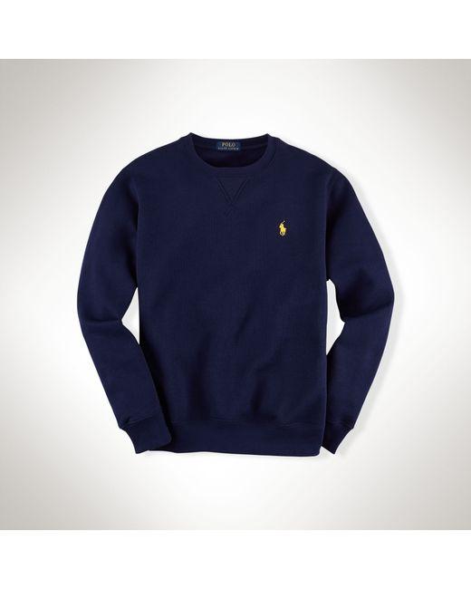 Polo Ralph Lauren   Blue Cotton-blend Fleece Sweatshirt for Men   Lyst