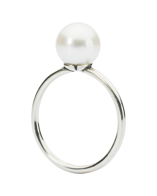 Trollbeads | White Sterling Silver And Pearl Ring | Lyst