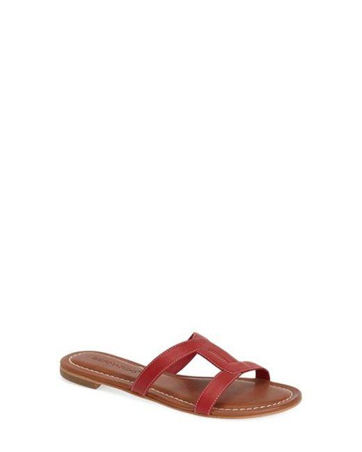 Bernardo | Red Bernardo 'whitney' Slide Sandal | Lyst