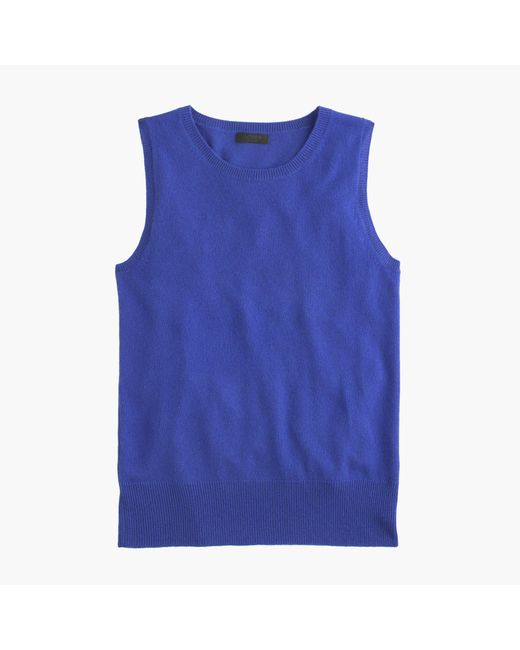 J.Crew | Blue Italian Cashmere Shell Top | Lyst