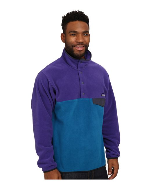 Patagonia | Blue Lightweight Synchilla® Snap-t® for Men | Lyst
