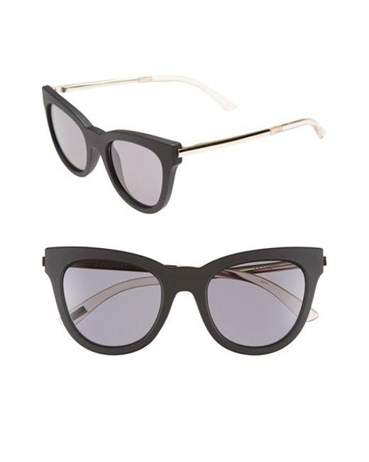 Le Specs | Black 'le Debutante' 51mm Cat Eye Sunglasses | Lyst