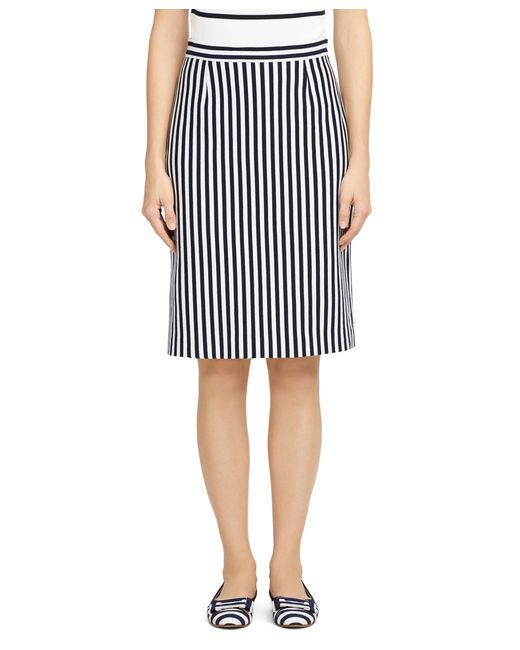 brothers stripe a line skirt in blue lyst