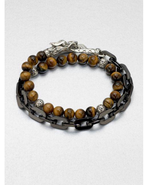 John Hardy | Multicolor Naga Silver Beaded Bracelet | Lyst
