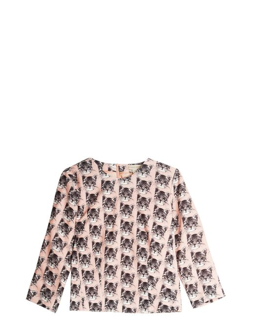 paul joe blouse in pink lyst. Black Bedroom Furniture Sets. Home Design Ideas