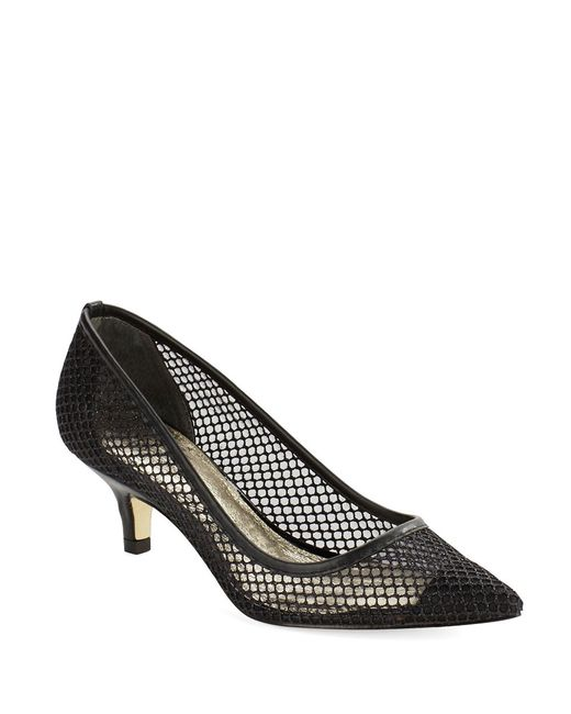 Adrianna Papell | Black Lois Mesh Pumps | Lyst
