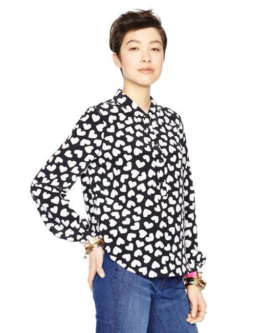 kate spade new york   Red Dancing Hearts Popover   Lyst