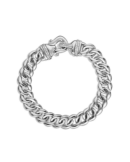 David Yurman | Metallic Buckle Single-row Bracelet With Diamonds, 10mm | Lyst