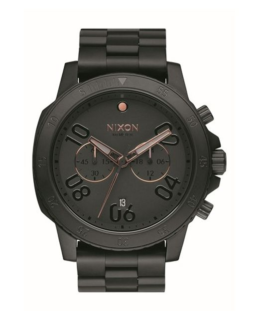 Nixon | Black 'ranger' Chronograph Bracelet Watch for Men | Lyst
