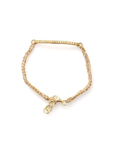 Carolina Bucci | Yellow Kaleidoscope Bracelet With Sapphire Pave | Lyst