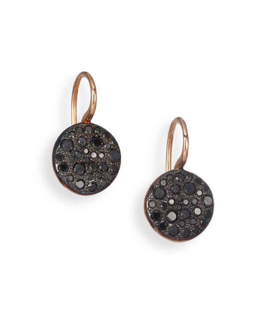 Pomellato | Sabbia Black Diamond & 18k Rose Gold Drop Earrings | Lyst