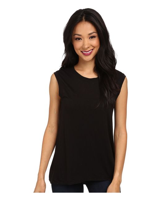 Lamade | Black High-low Muscle Tee | Lyst