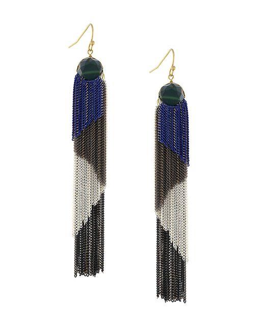 BCBGeneration | Blue Boheme Tricolor Tassel Earrings | Lyst