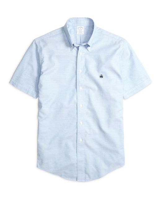 Brooks Brothers | Blue Non-iron Madison Fit Oxford Short-sleeve Sport Shirt for Men | Lyst