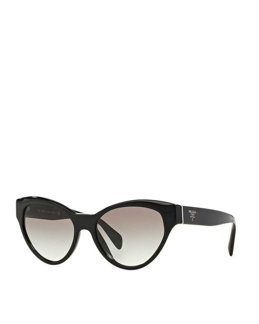 4420029ee55 Prada Black Cat-eye Sunglasses - Pr 09qs