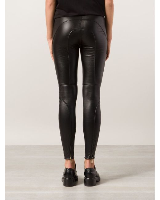 Givenchy | Black Biker Trousers | Lyst