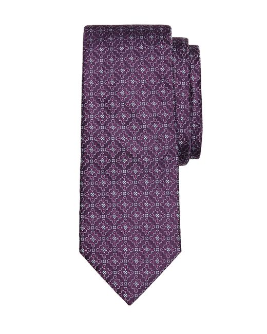 Brooks Brothers | Purple Satin Medallion Tie for Men | Lyst