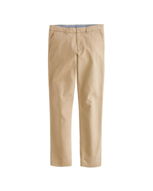 J.Crew | Brown Bowery Slim Pant In Cotton Twill for Men | Lyst