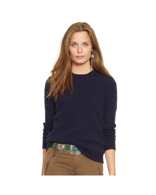 Polo Ralph Lauren | Blue Slim-fit Cabled Cashmere | Lyst