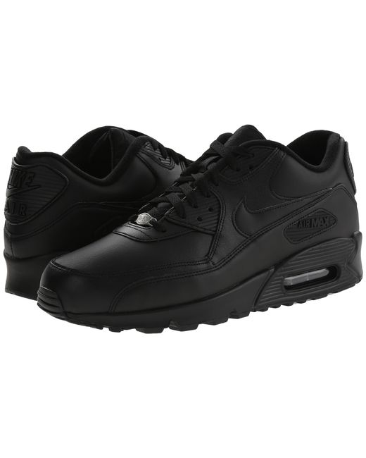 Nike   Black Air Max 90 Leather Low-Top Sneakers for Men   Lyst