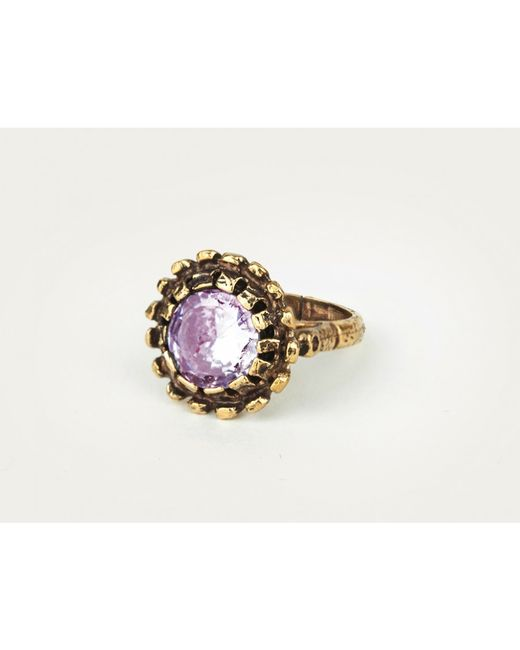 Mor | Purple Lilac Quartz Ring | Lyst