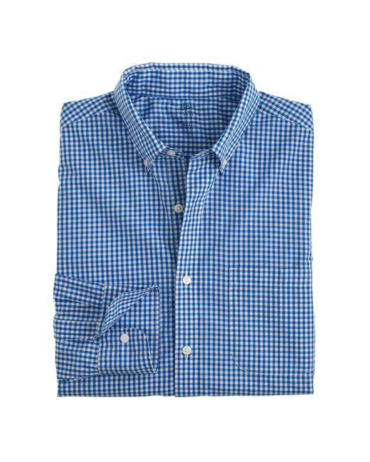 J.Crew   Blue Slim Lightweight Secret Wash Shirt In Gingham for Men   Lyst