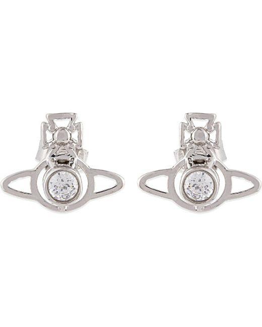 Vivienne Westwood | White Nora Orb Earrings | Lyst