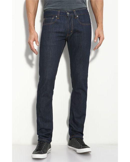 levi 39 s red tab 39 511 39 skinny jeans in blue for men blue. Black Bedroom Furniture Sets. Home Design Ideas