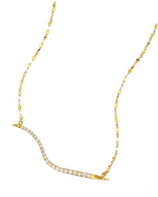 Lana Jewelry   Metallic 14k Electric Wavelength Diamond Necklace   Lyst