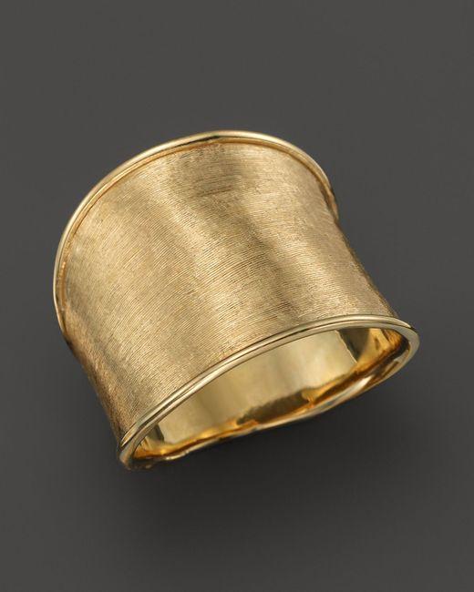 Marco Bicego | Metallic 18k Yellow Gold Engraved Lunaria Ring | Lyst