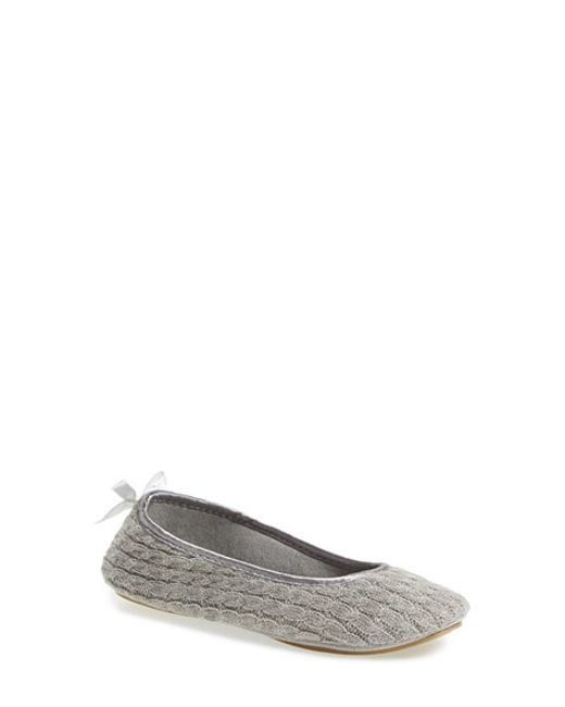 Patricia Green | Gray Cassie Knit Slippers | Lyst