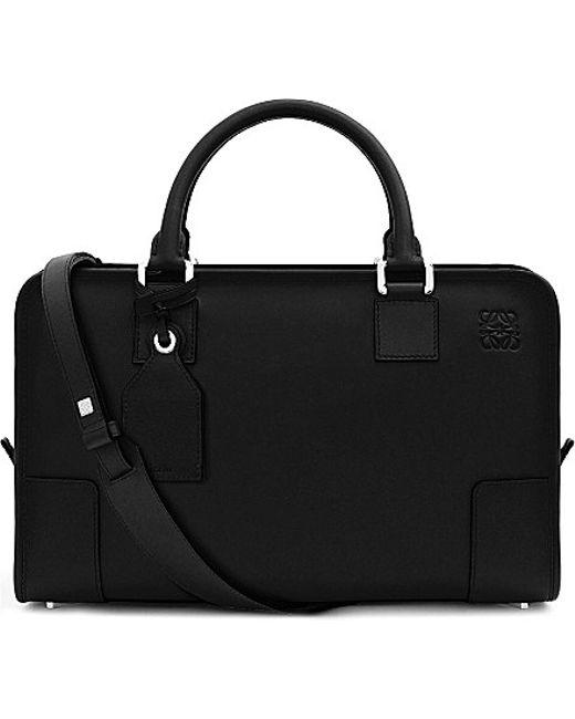 Loewe | Black Amazona Leather Tote Bag | Lyst
