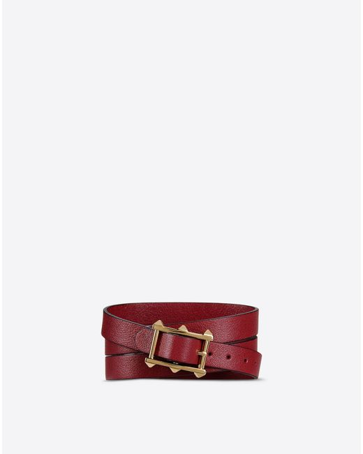 Valentino | Red Logo Bracelet | Lyst