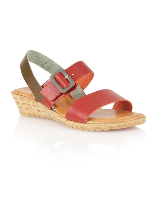 Lotus | Red Banos Open Toe Sandals | Lyst