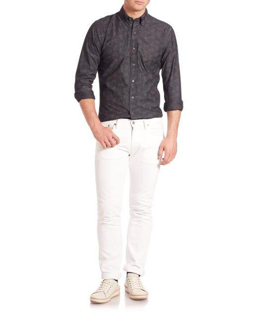 Black bandana button up shirt