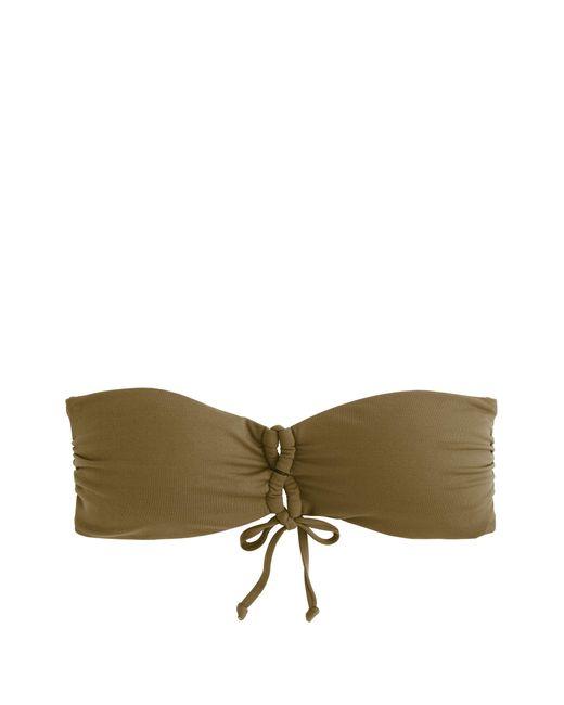 J.Crew | Green Italian Matte Bandeau Bikini Top | Lyst