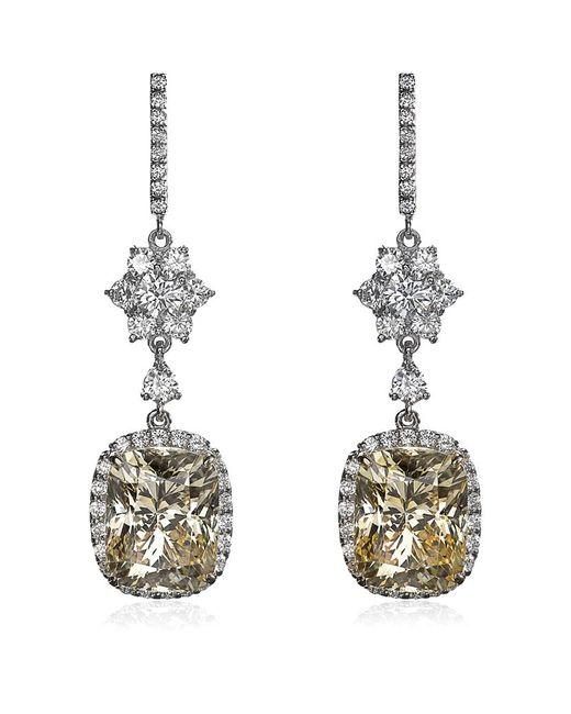 Carat* | Metallic Canary Yellow Drop Earrings | Lyst