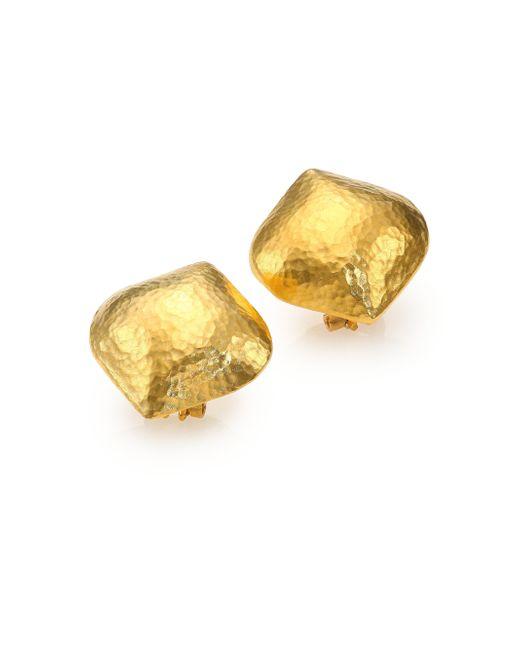 Gurhan | Metallic Clove 24k Yellow Gold Cielo Button Earrings | Lyst